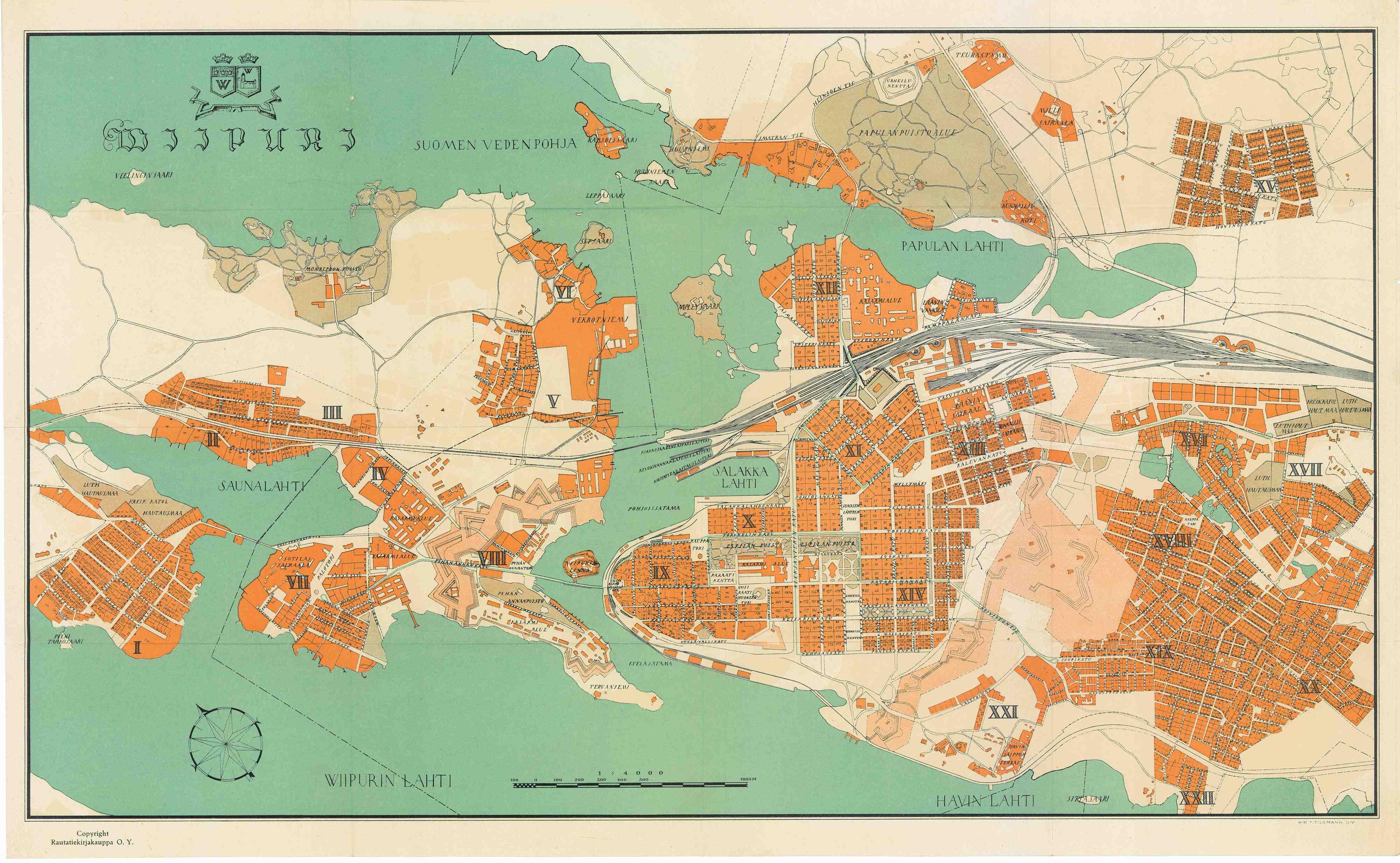 Viipuri Kartta Ja Opas Plankarta Och Vagledning Map Of The
