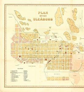 Oulun Kaupungin Asemakartta Plan Ofver Uleaborg