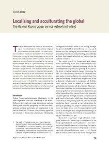 Localising and acculturating the global: the Healing Rooms prayer