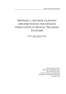 Defining a Machine Learning implementation for demand forecasting