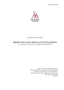 Predicting Loan Default in P2P Lending : A comparative
